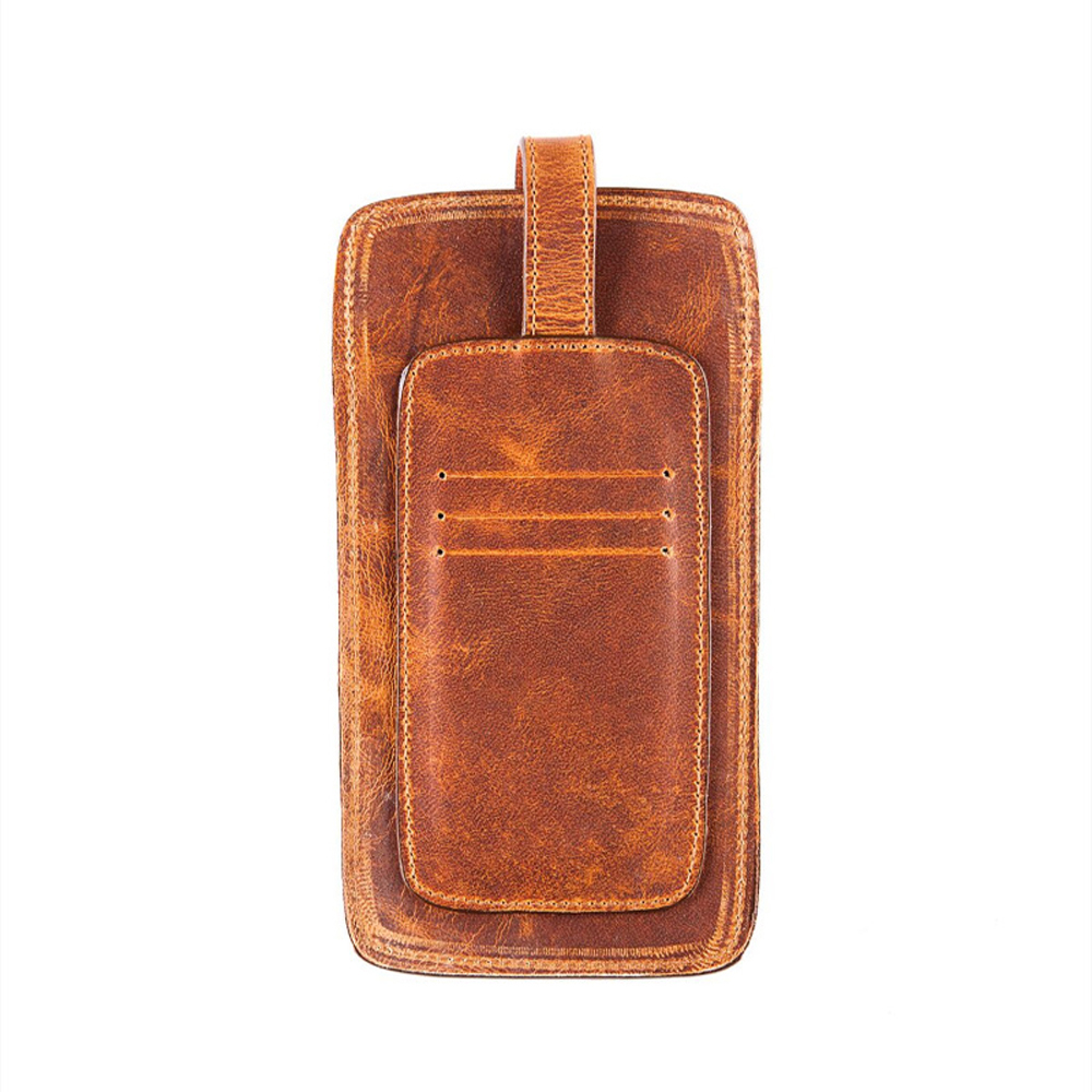Men Phone Holder in Distressed Leather