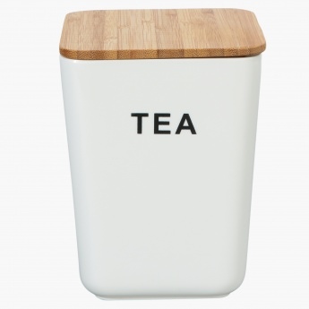 Peony Tea Canister with Bamboo Lid
