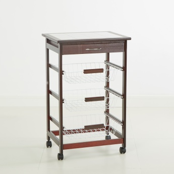 Cazo-Riva 3-Tier Kitchen Trolley with Drawer