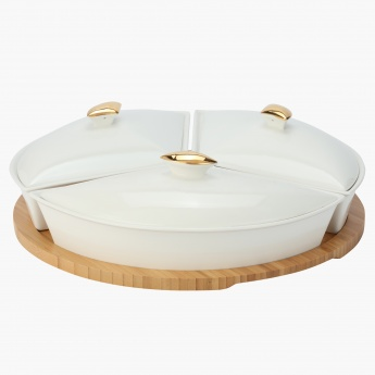 Home Centre Rabat Serving Set w/ Bamboo Tray