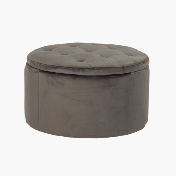 Retina Ottoman with Storage - Grey