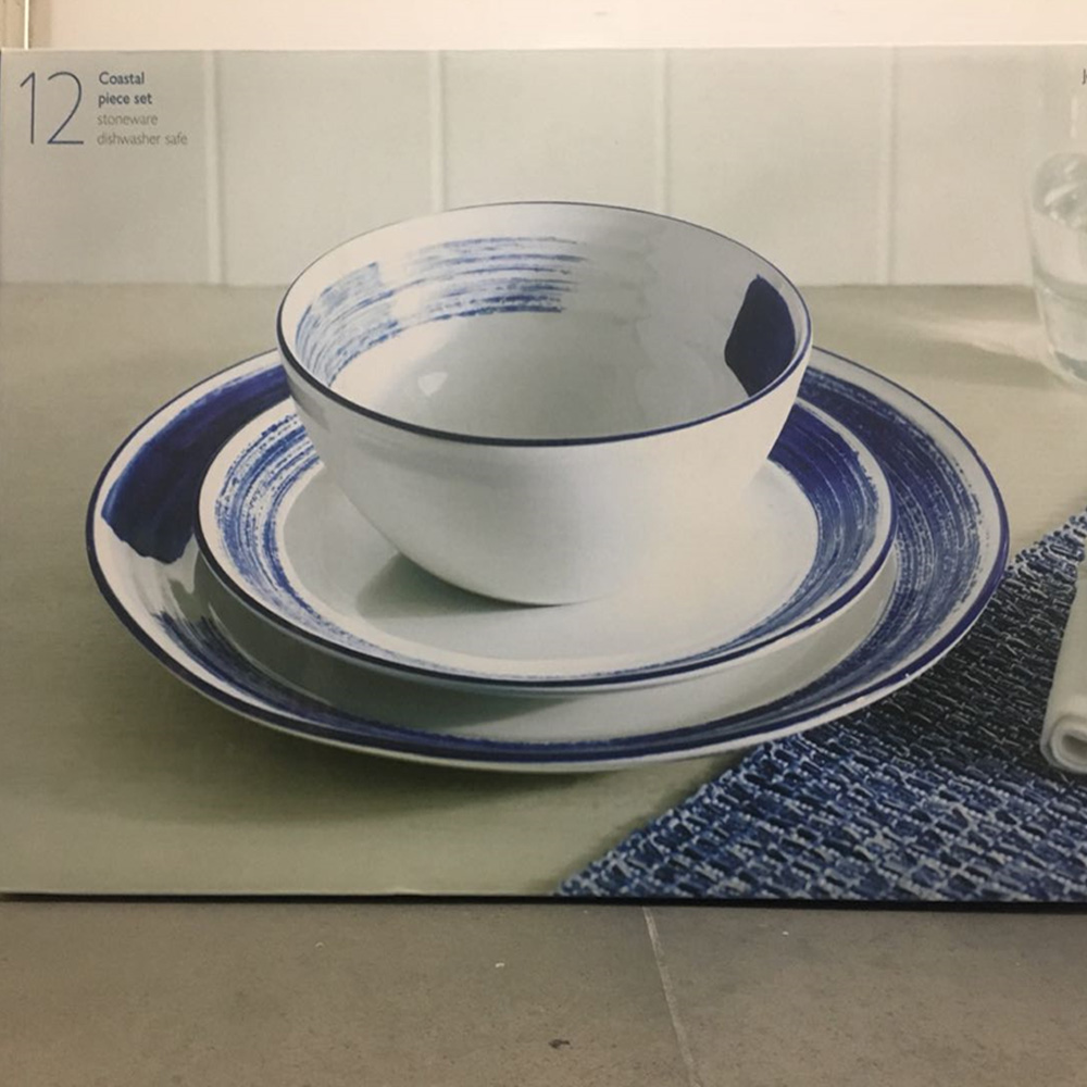 Coastal 12pc Set Dinnerware