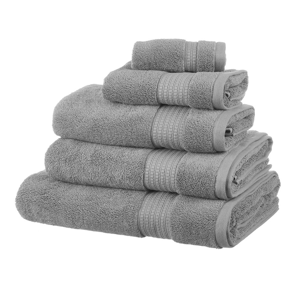 Supima Cotton Guest Towel - Steel