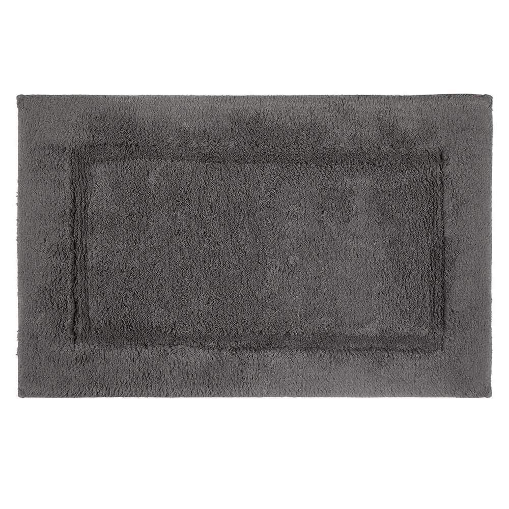 Deep Pile Bath Mat with Microfresh Technology, 50 x 80cm, Steel