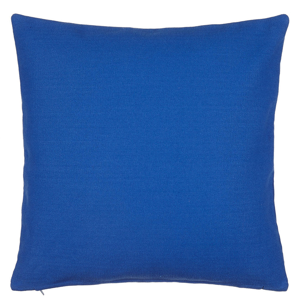 Plain Cotton Cushion, Cobalt