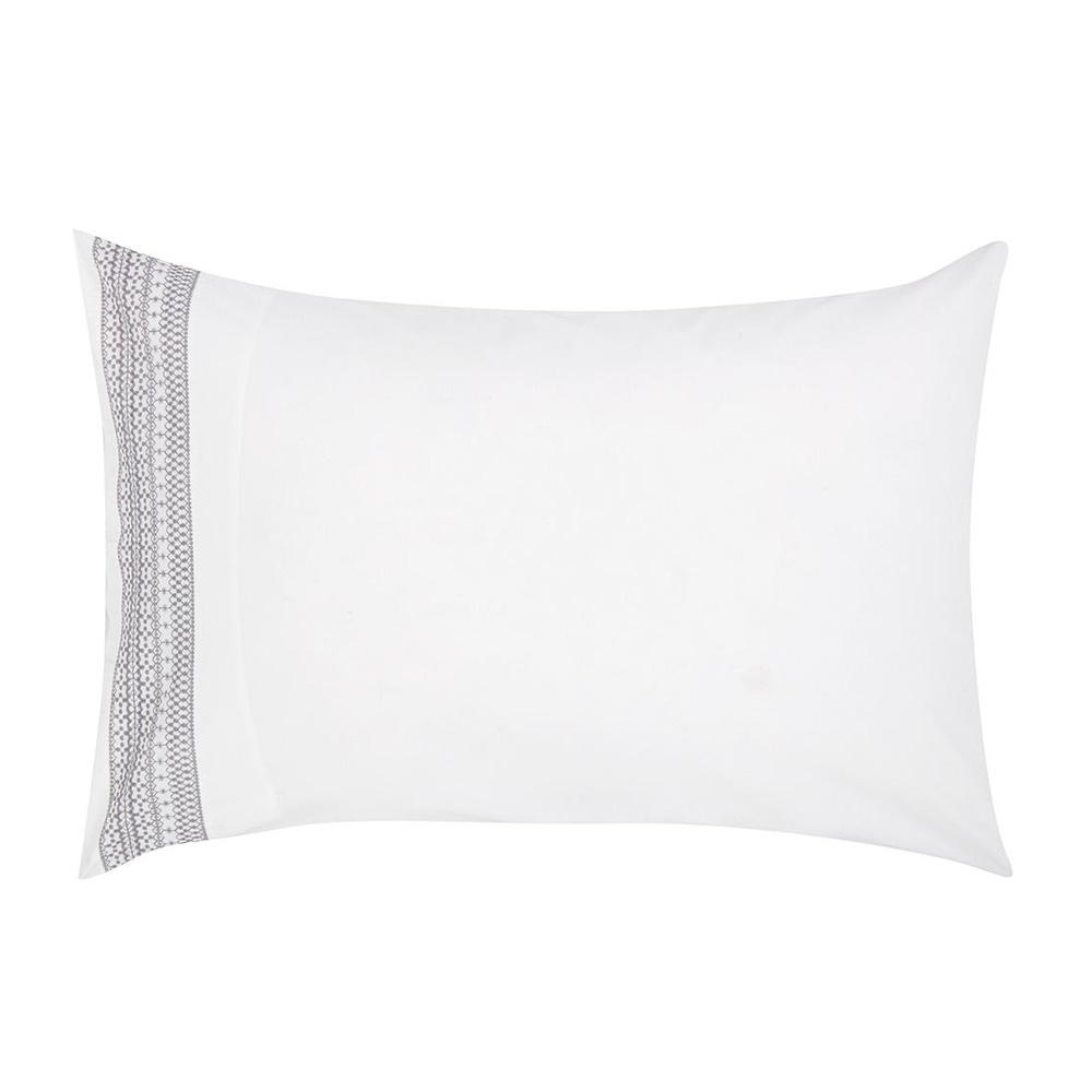 Croft Collection Isla Border Pillow Case