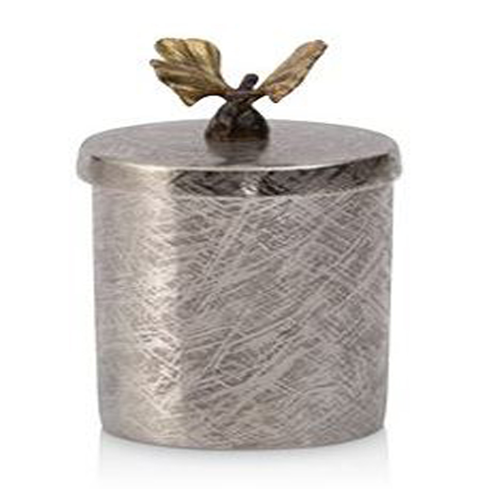 Butterfly Ginkgo Round Container