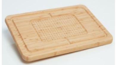 Natural Bamboo PYRAMID cutting board
