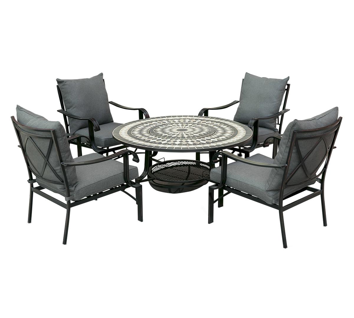 Leisuregrow Casablanca 4-Seater 3-in-1 Multifunctional Furniture Set
