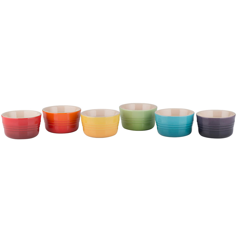 Rainbow Mini Ramekin, Set of 6