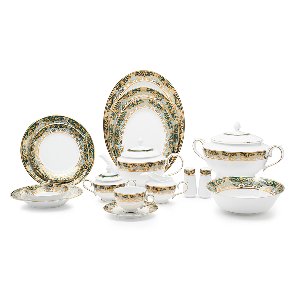 S/Crown Dinner Set 98Pcs