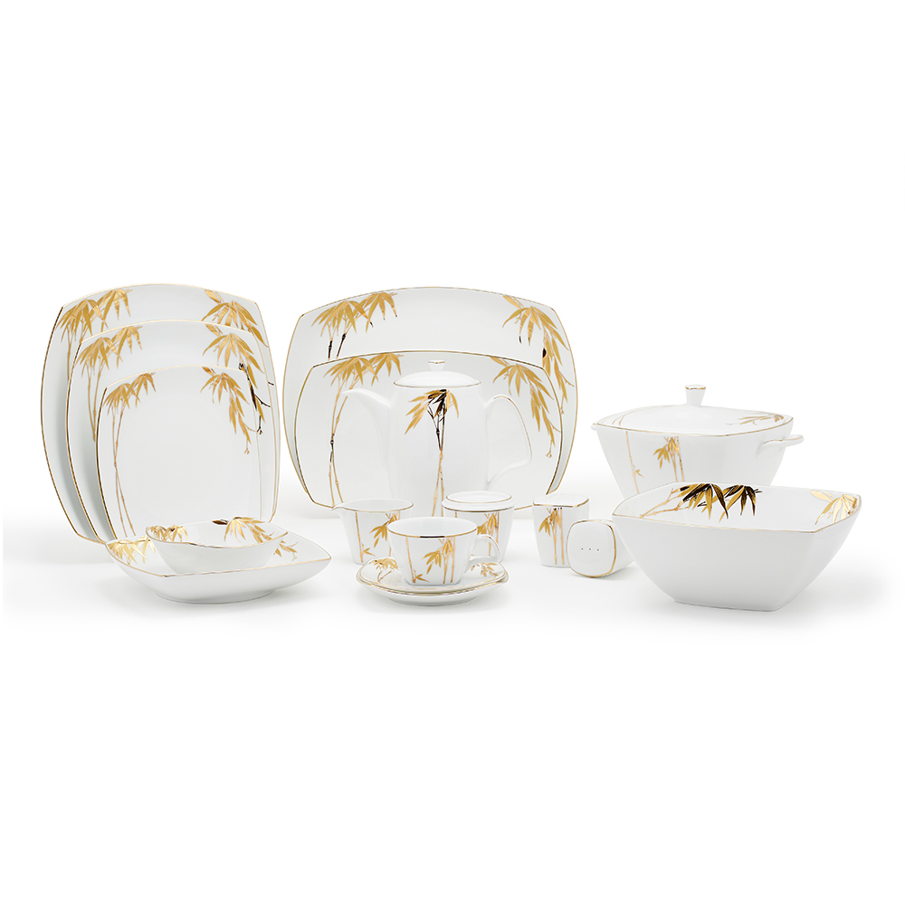 Bamboo Gold Dinner Set 98Pcs