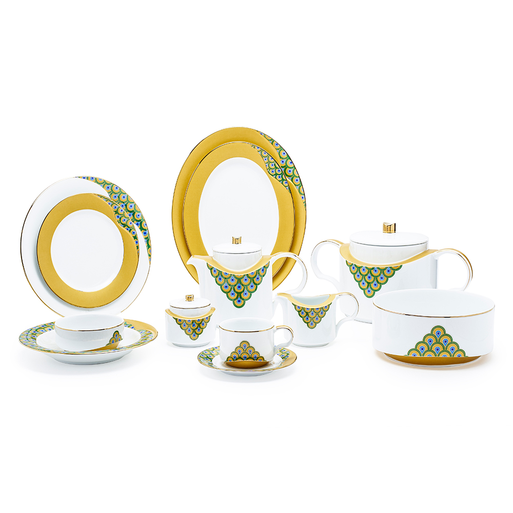 Helga Peacock Dinner Set 95Pcs