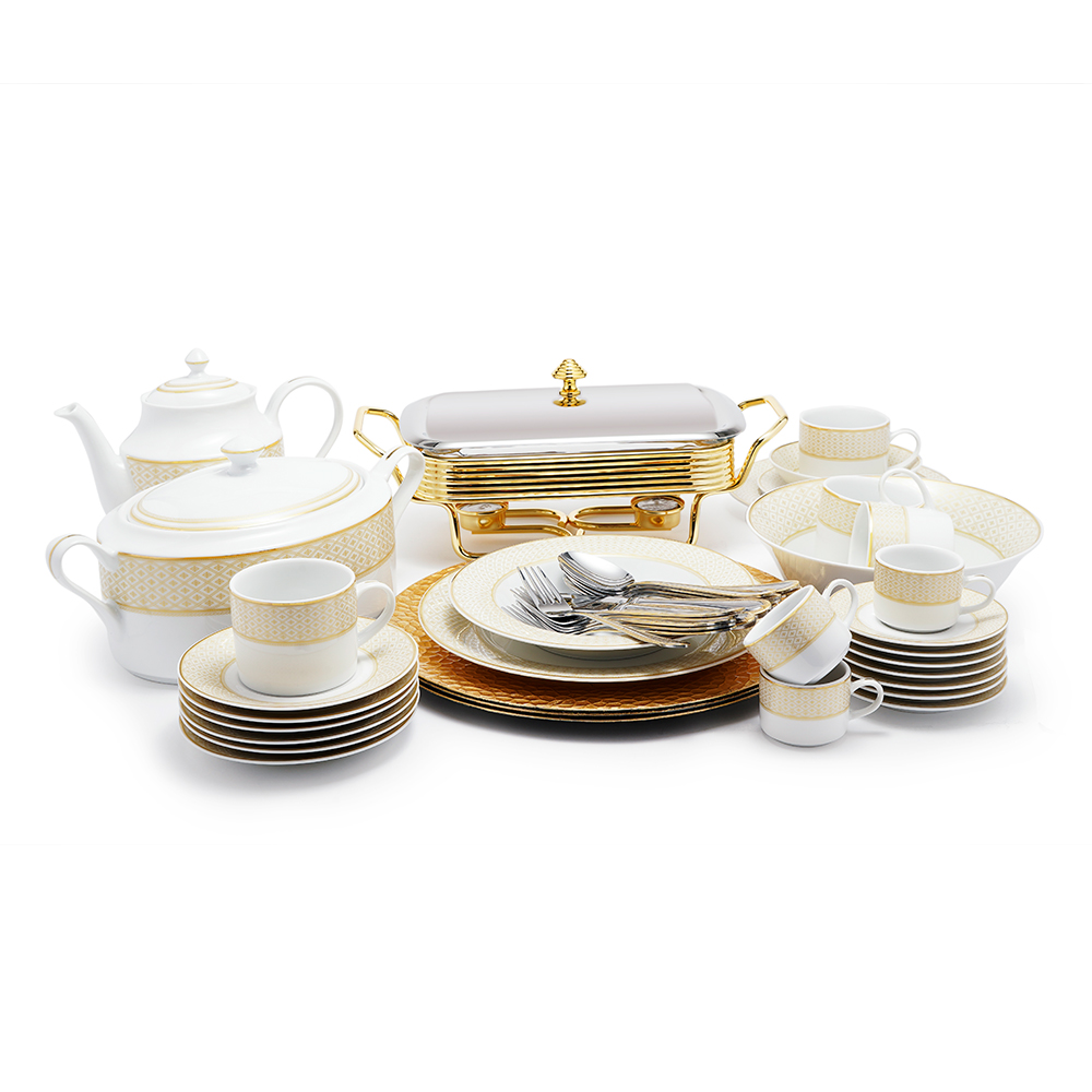 Roxie Gold Dinner Set - 83Pcs