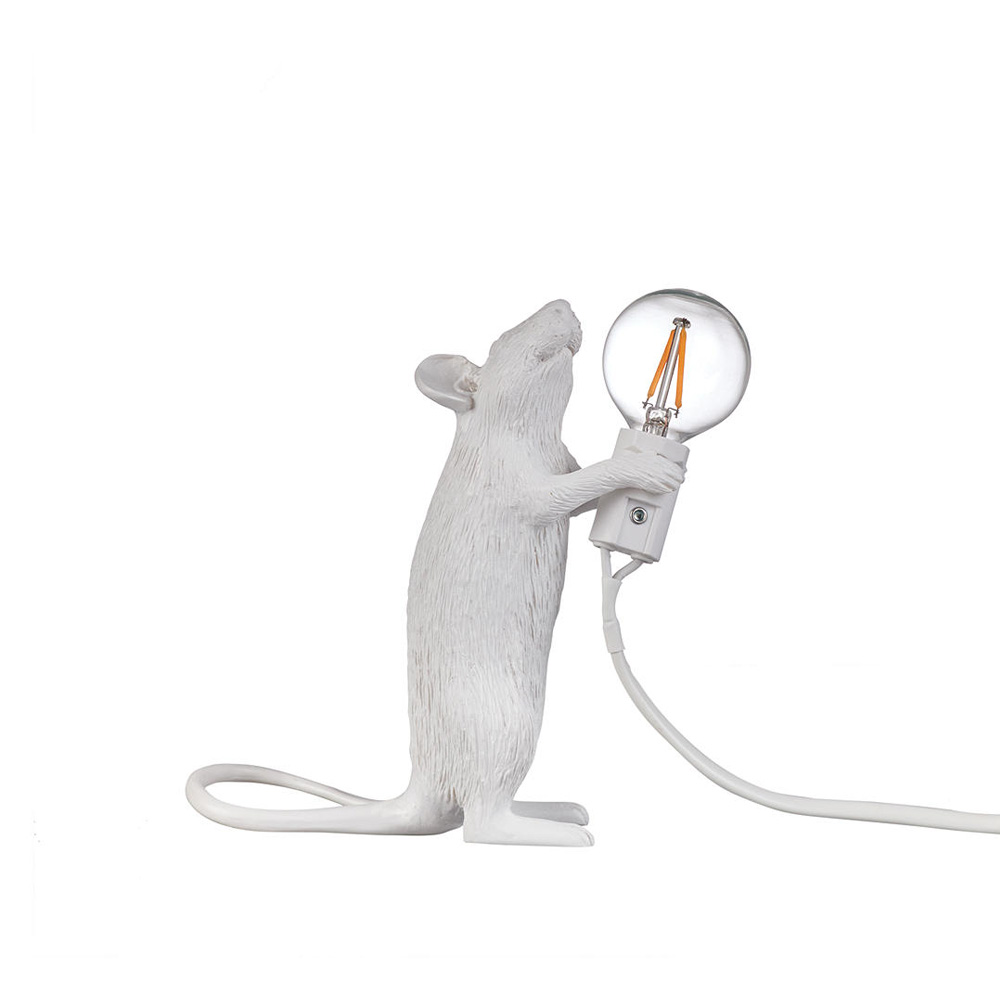 Standing Mouse Table Lamp, White