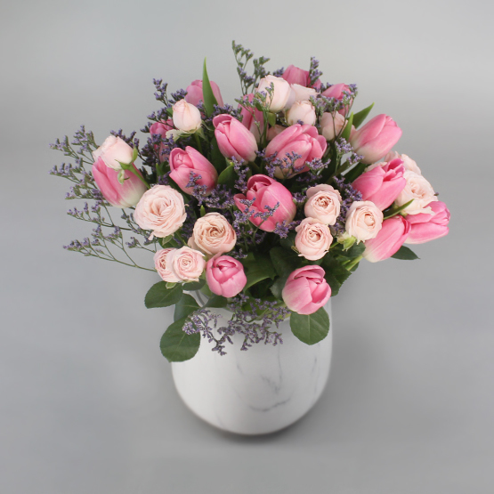 Above and Beyond Tulips Flower Bouquet
