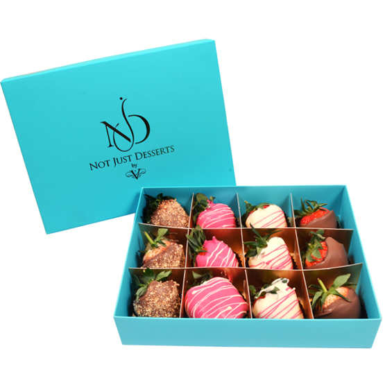 NJD Chocolate Covered Strawberries - 12pcs