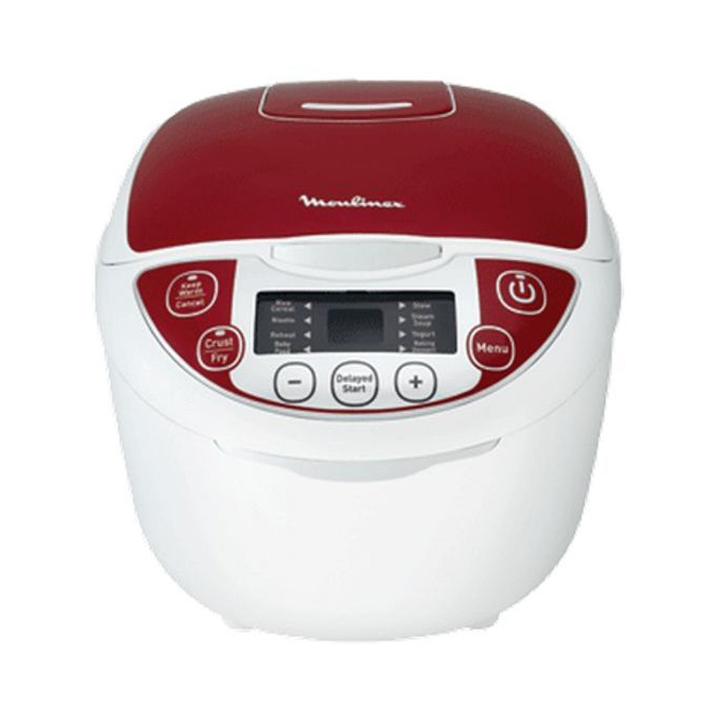 Fuzzy Rice Cooker 5L, White & Red