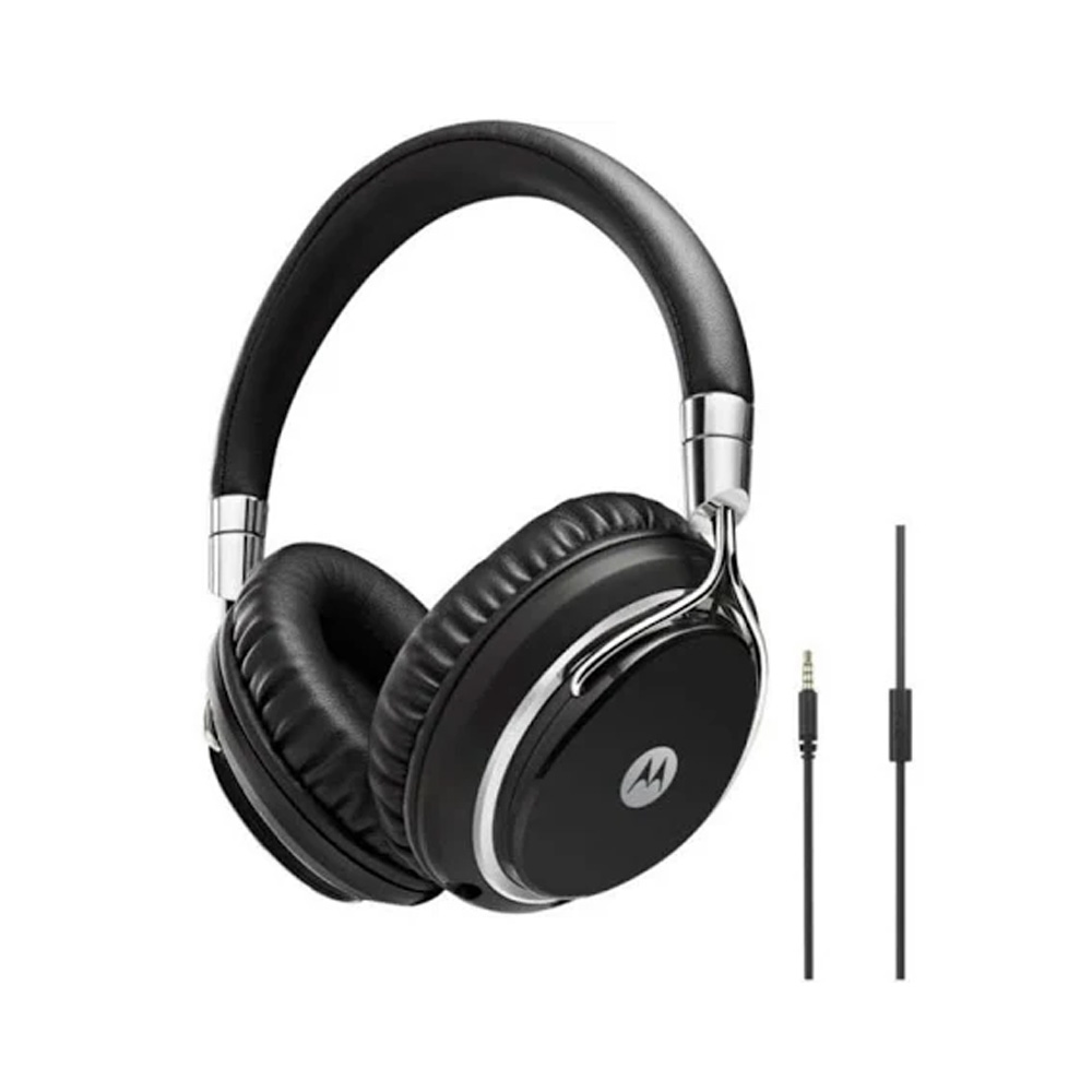 Pulse M Series Wired On-Ear Headphones Black