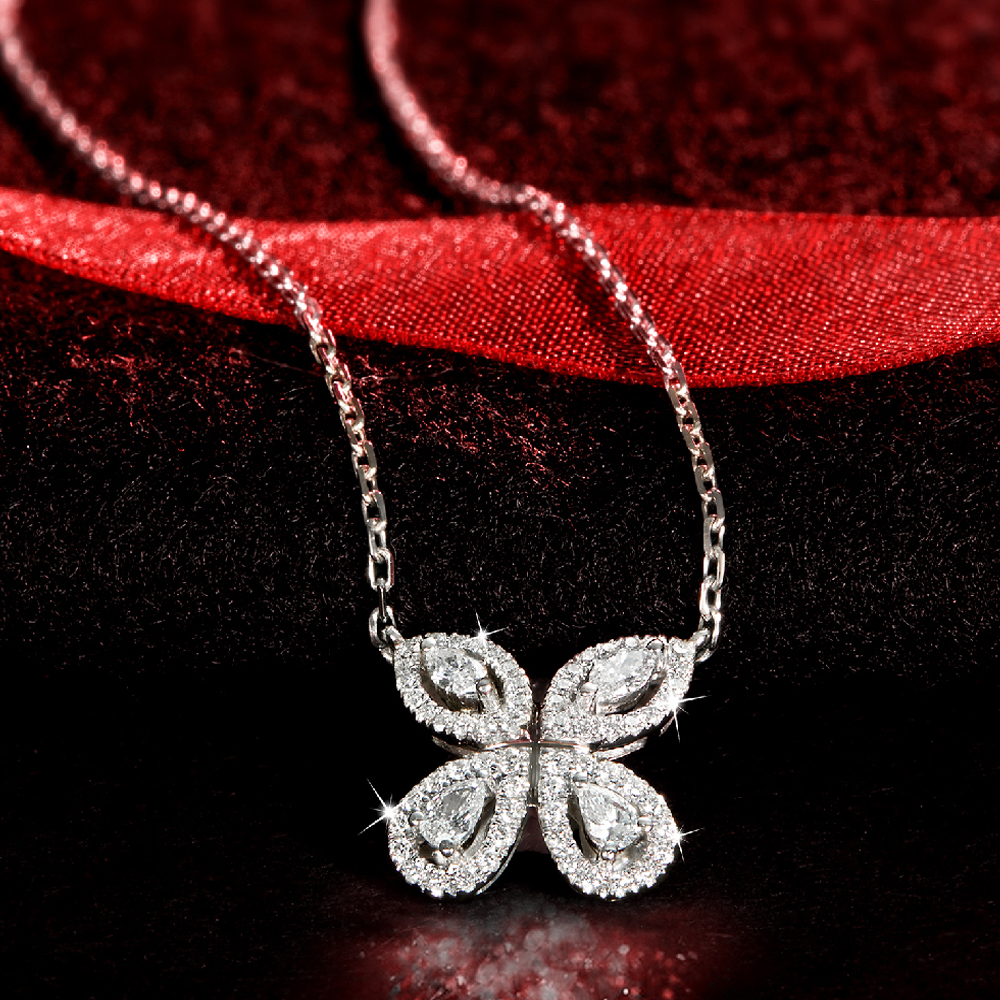 Red Carpet Butterfly Pendant