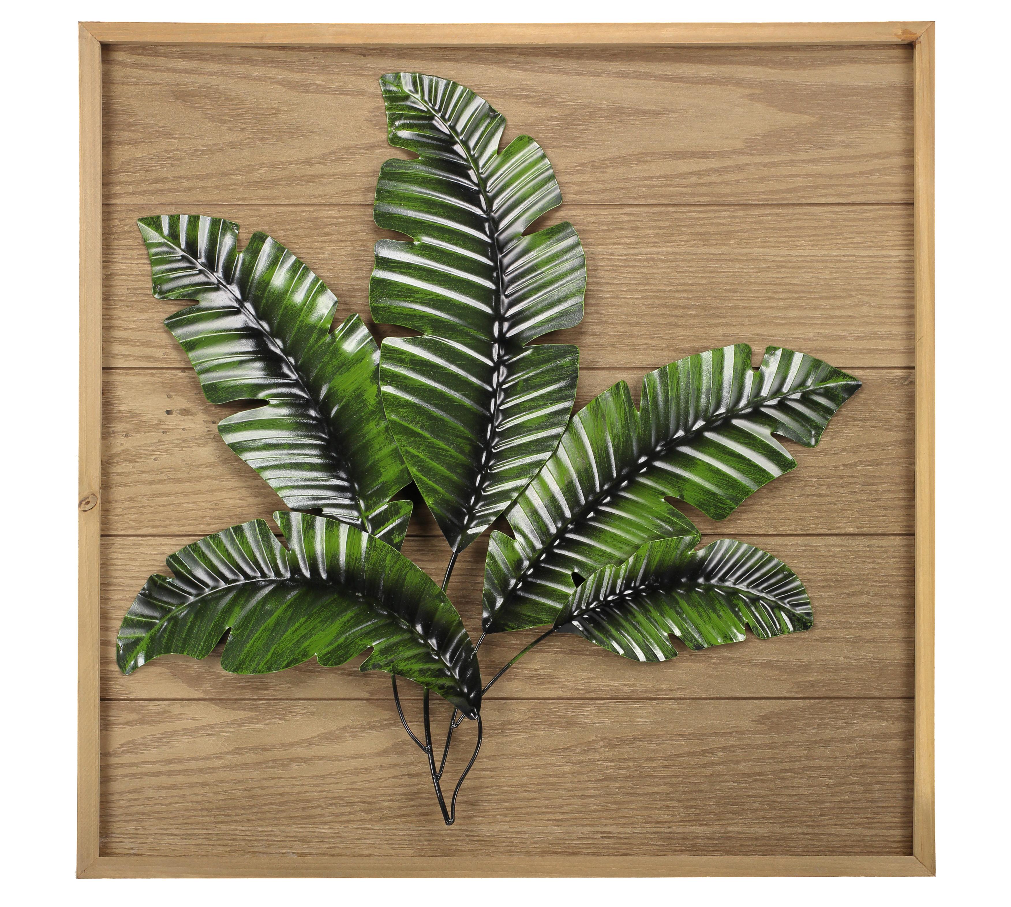 LS Wall Art W/Leaf Pattern 61X61X4.5cm