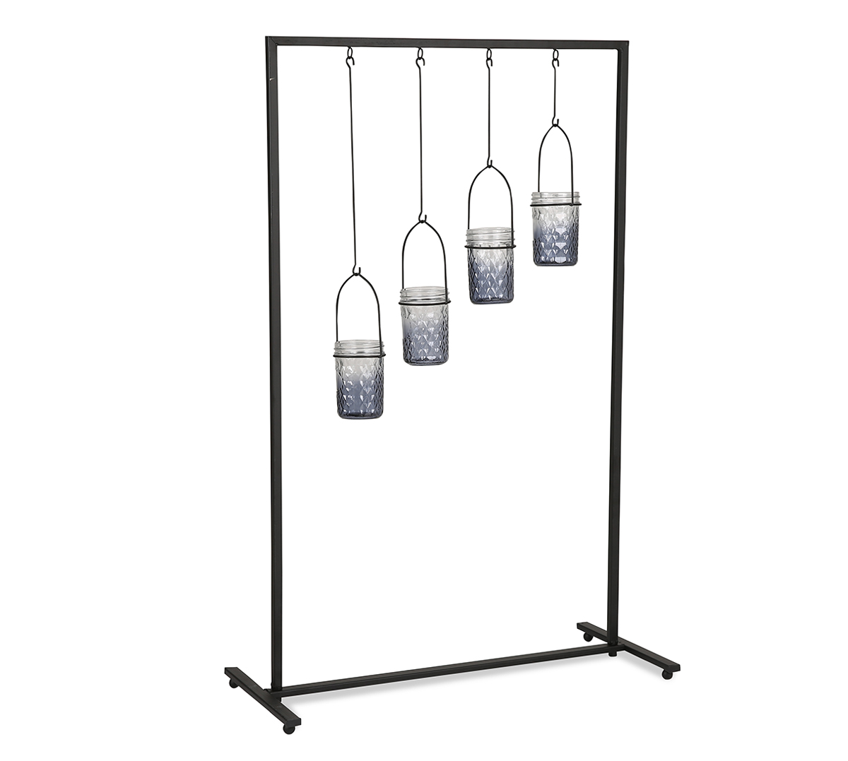 LS Metal Frame W/Glass Candle Holder M