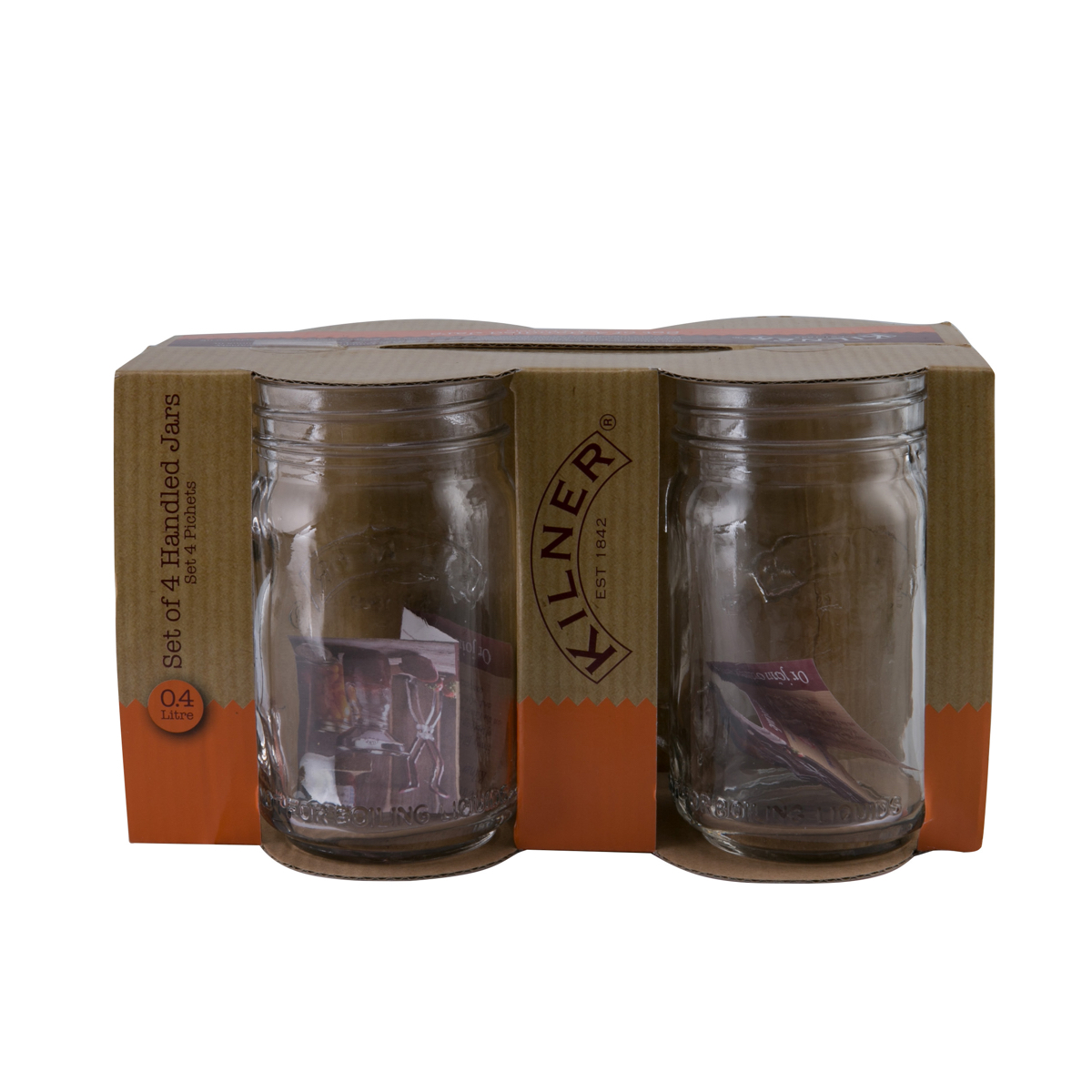 A-Kilner Handled Jars Set Of 4