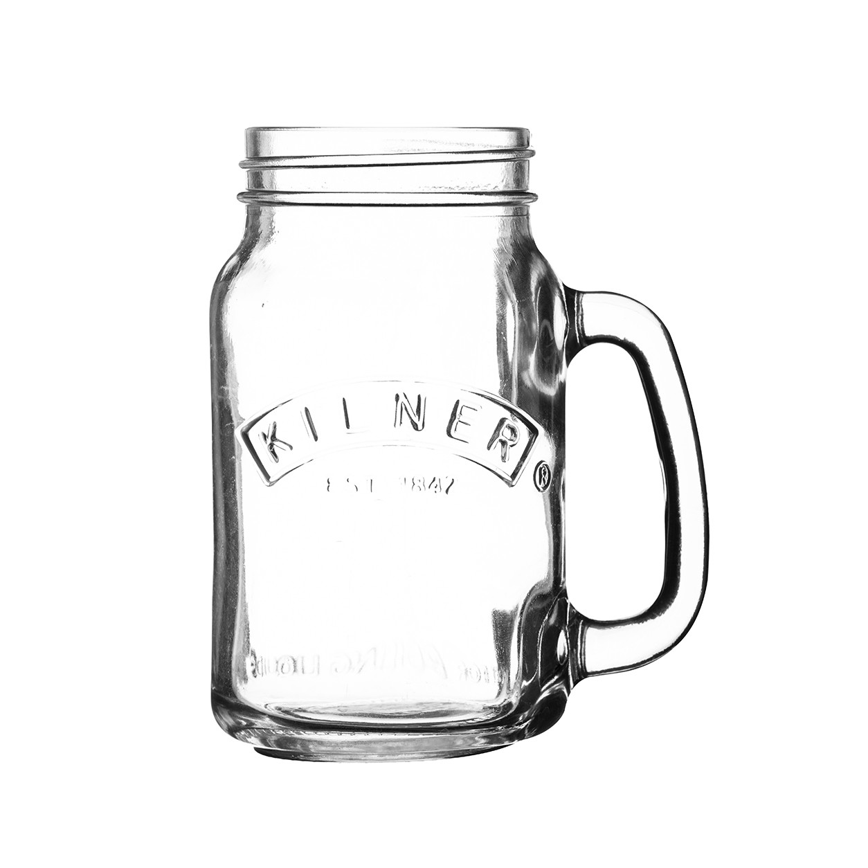 A-Kilner 540ml Handled Jar Clear