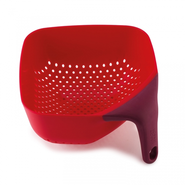 JJ Square Colander Medium Red New