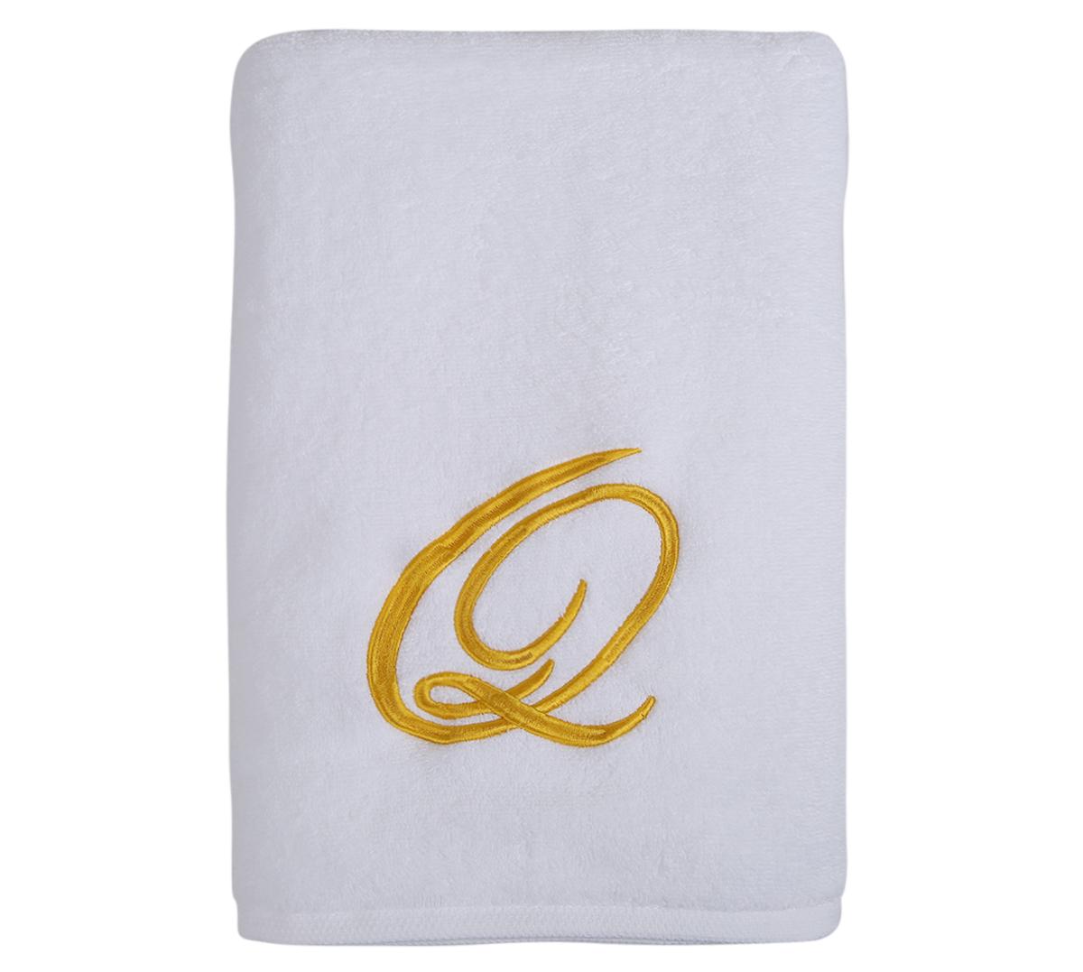 Alphabet Bath Towel 70x140cm Letter Q