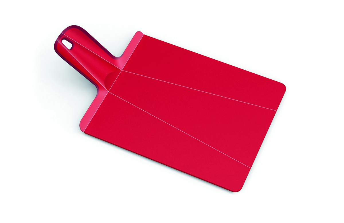 JJ Chop 2 Pot Chopping Board Large Red