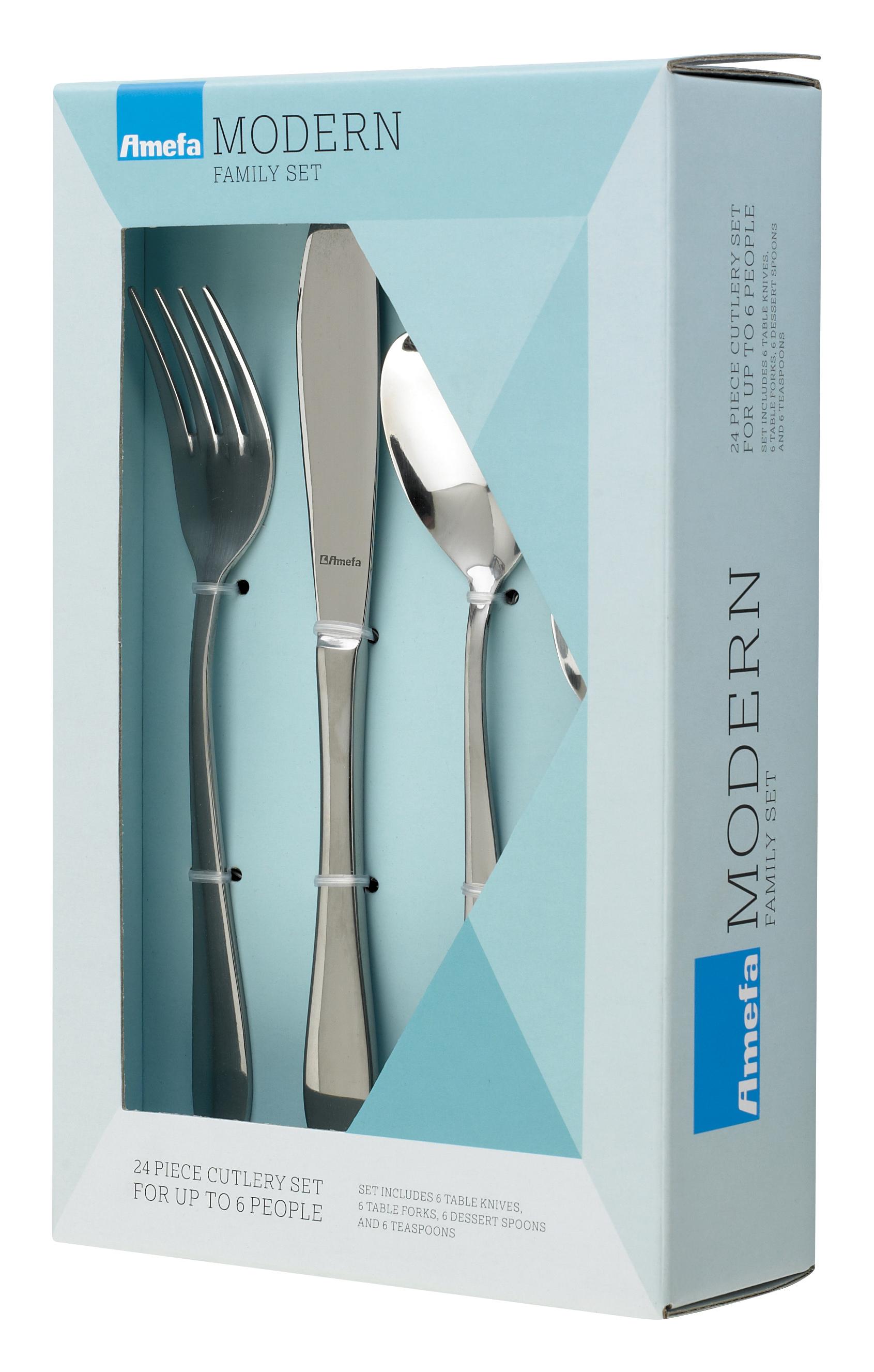 AmefaModern Sure 18/0 CutlerySet 24pcs
