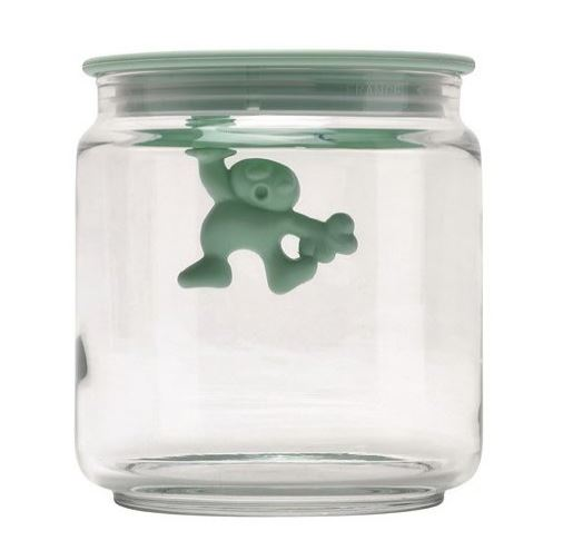 Alessi  Jar Glass Gianni LID 70CL Blue