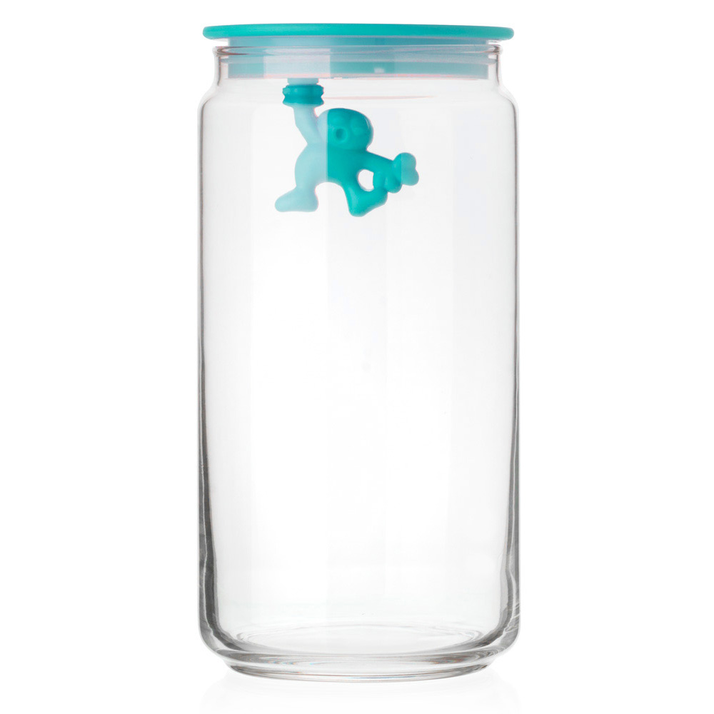 Alessi Jar Glass Gianni LID 140CL Blue