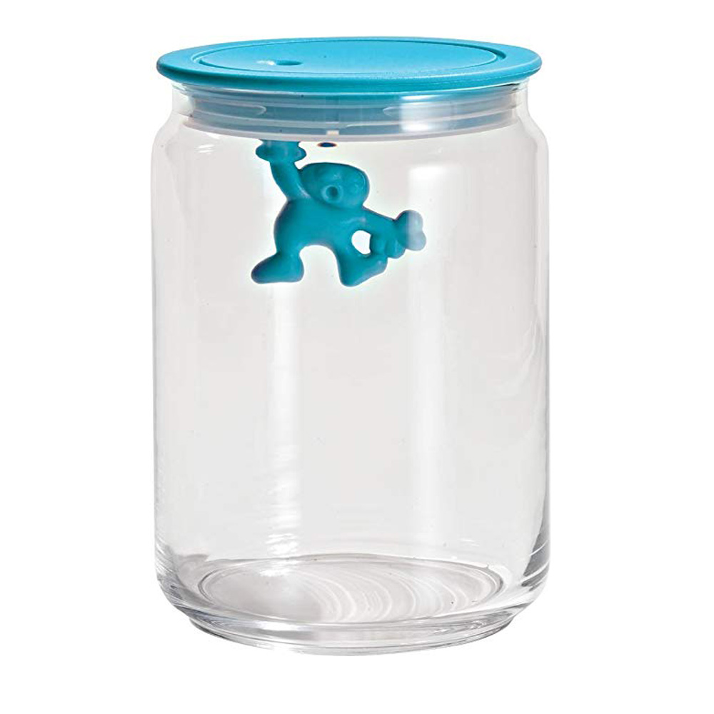 Alessi  Jar Glass Gianni LID 90CL Blue