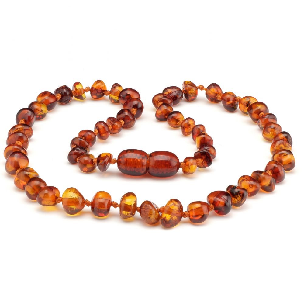 Made By Nature Amber Necklace - Cognac