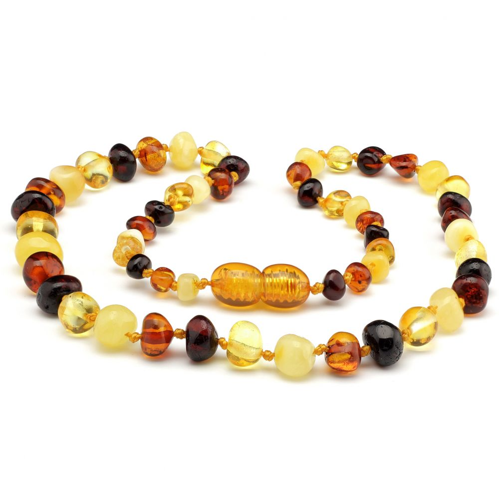 Made By Nature Amber Necklace - Multicoloured