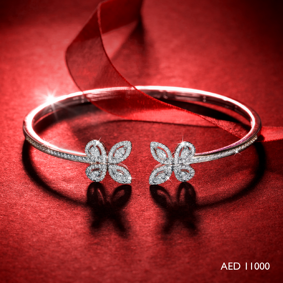 Red Carpet Butterfly Bangle