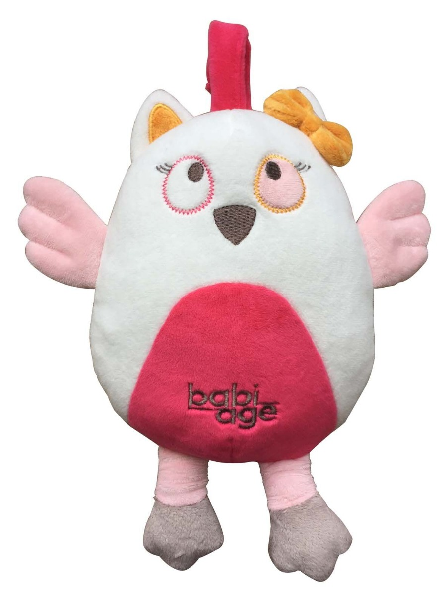 Back-to-sleep baby monitor -  Owl Pink Doodoo