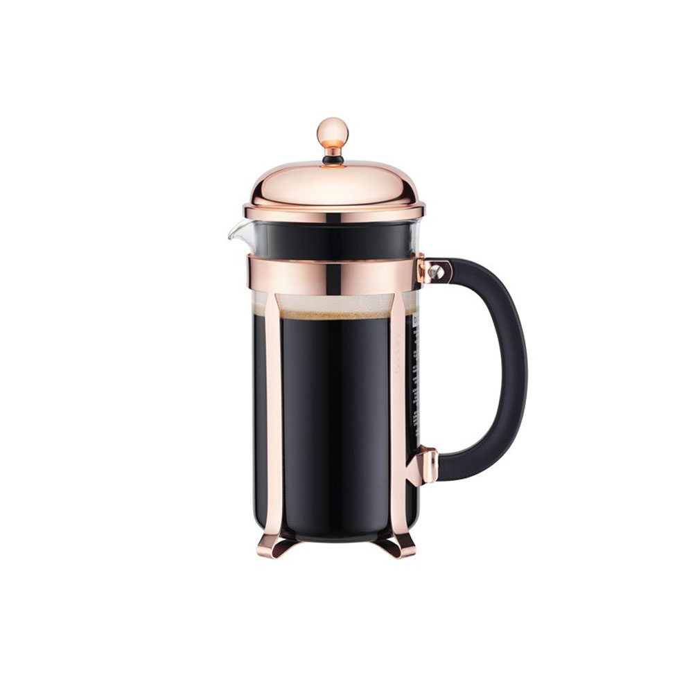 Chambord French Press Coffee Maker, Copper Plated