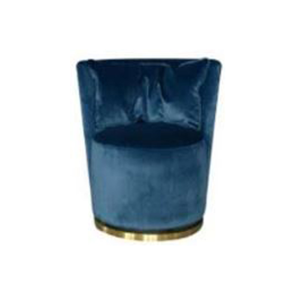 Dave Swivel club chair 85 x 82 x 75cms-Blue