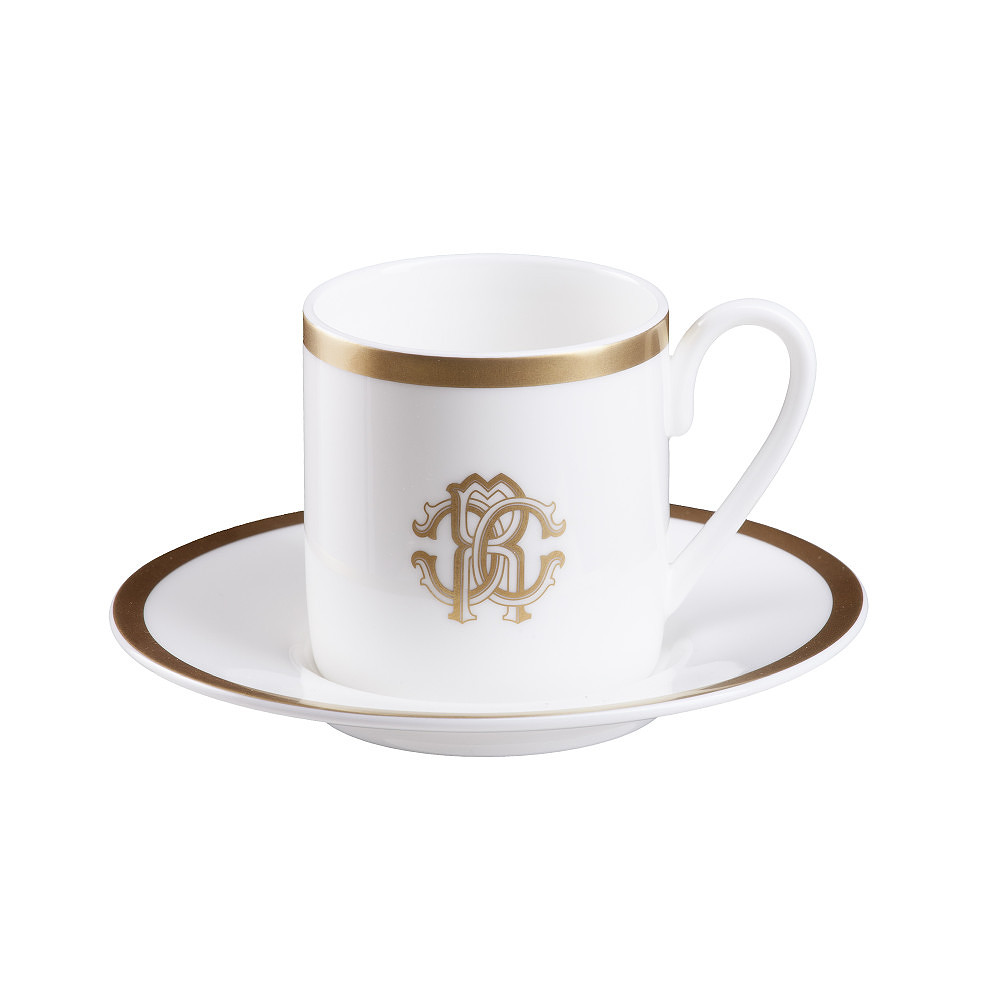 Roberto Cavalli SILK GOLD Coffee Cup & Saucer