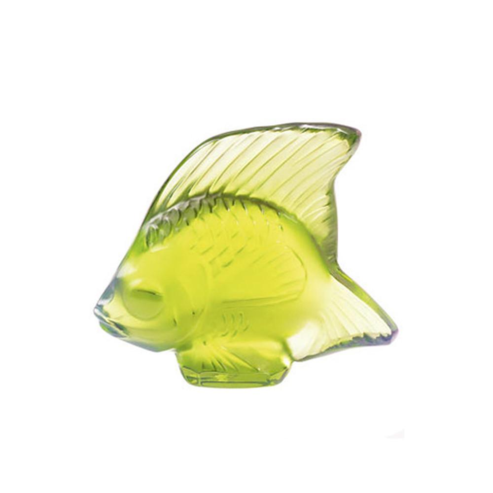 Lalique Fish Sculpture Green