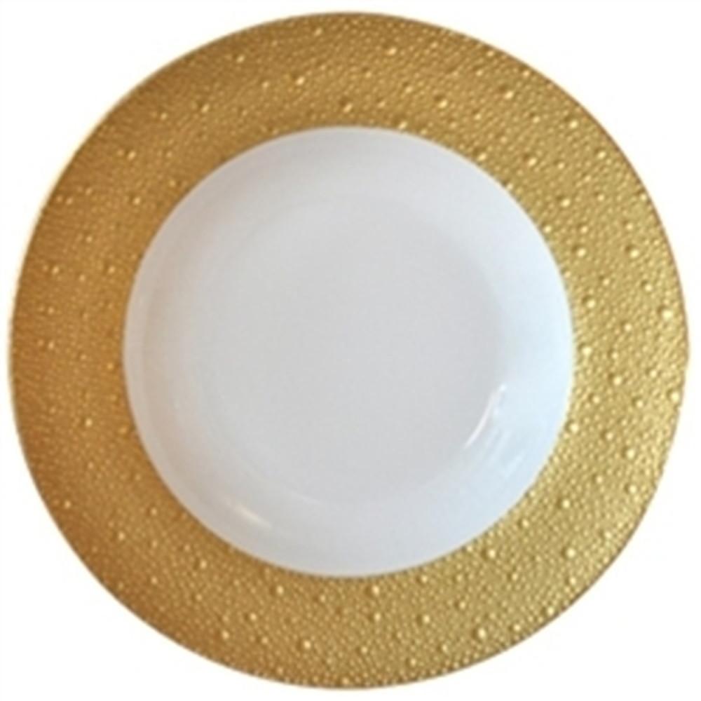 Bernardaud Ecume Rim Soup Plate Gold