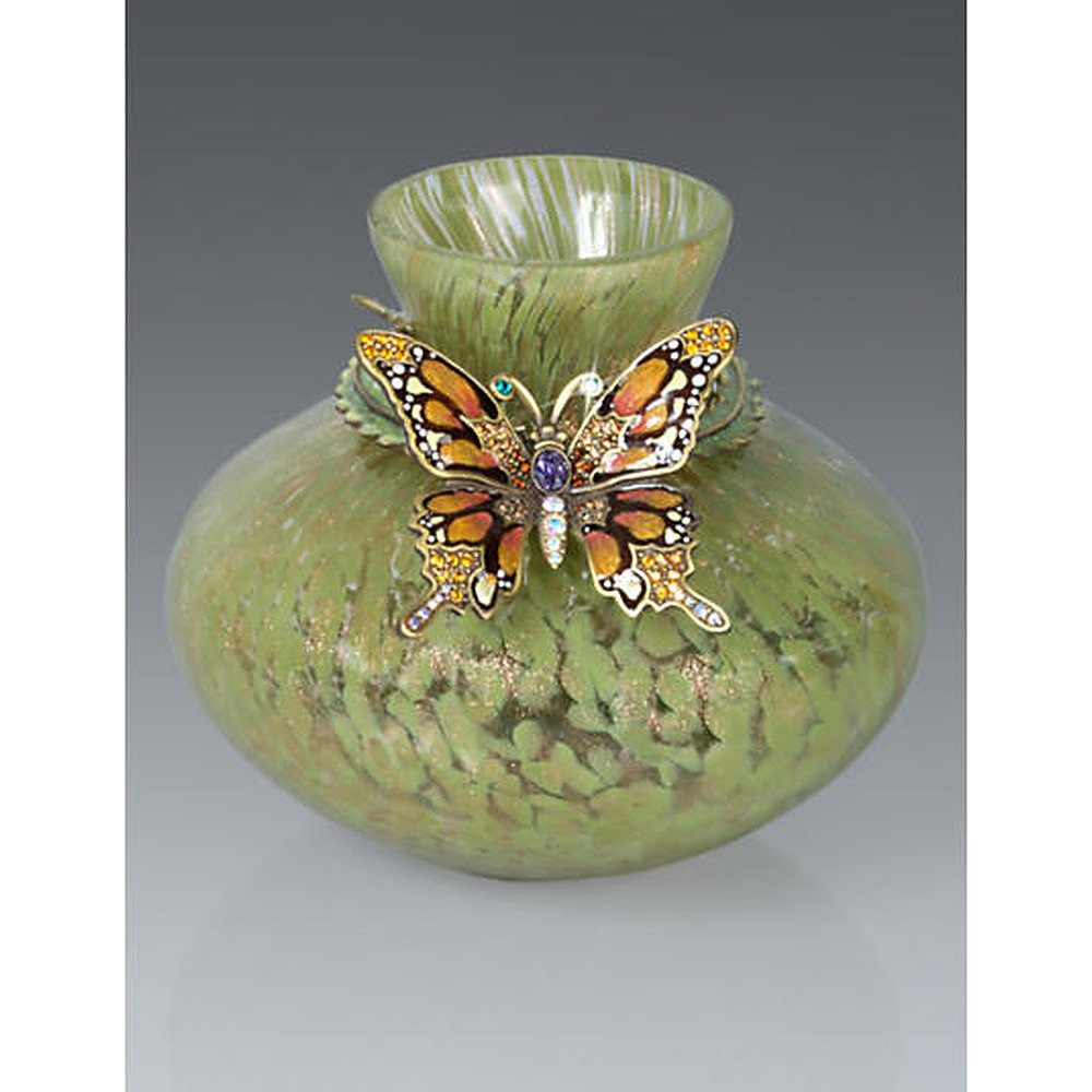 Jay Strongwater Great Gifts Butterfly Vase