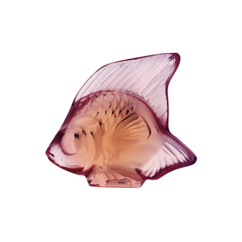 Lalique Fish Sculpture Opaque Pink