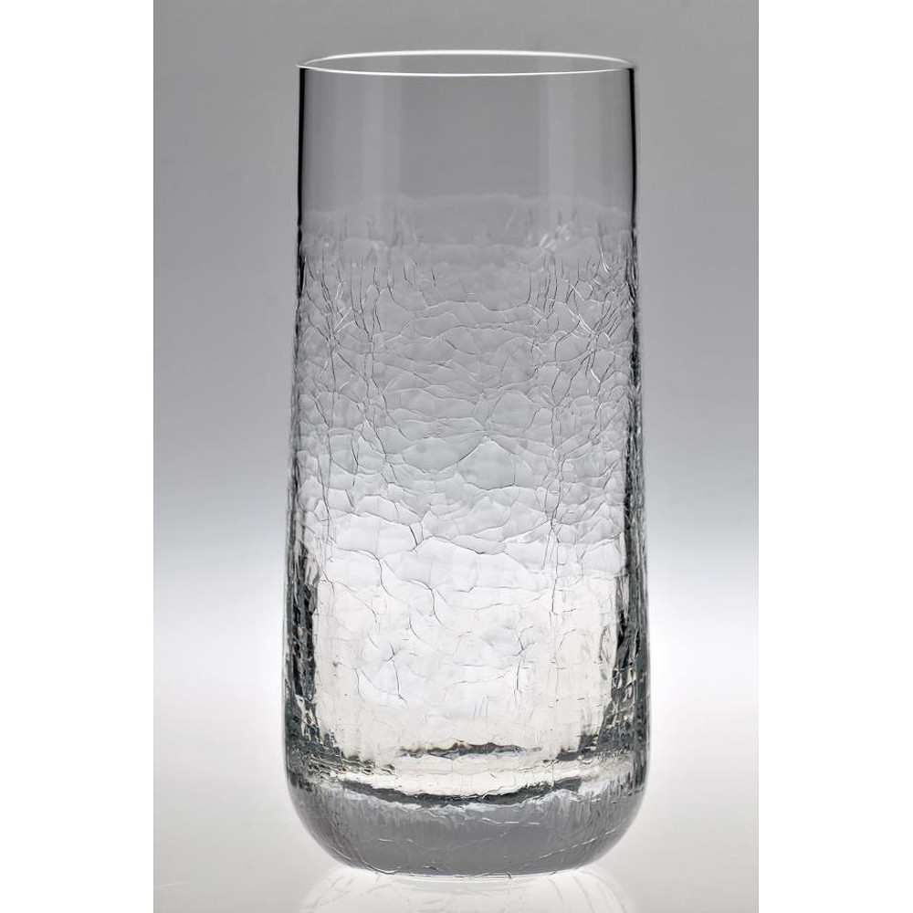 Crackle Tall Tumbler Clear Box of 6 pieces