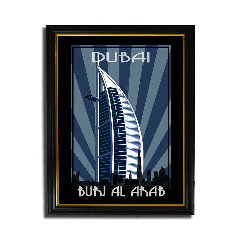 Deco Arabia Burj Al Arab w/ text A4