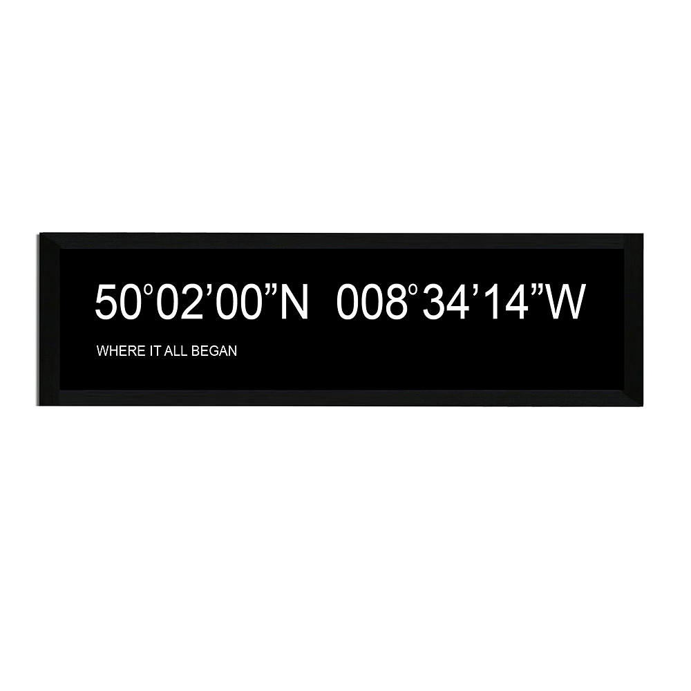 Deco Arabia Coordinates Personalised Print A2 mounted