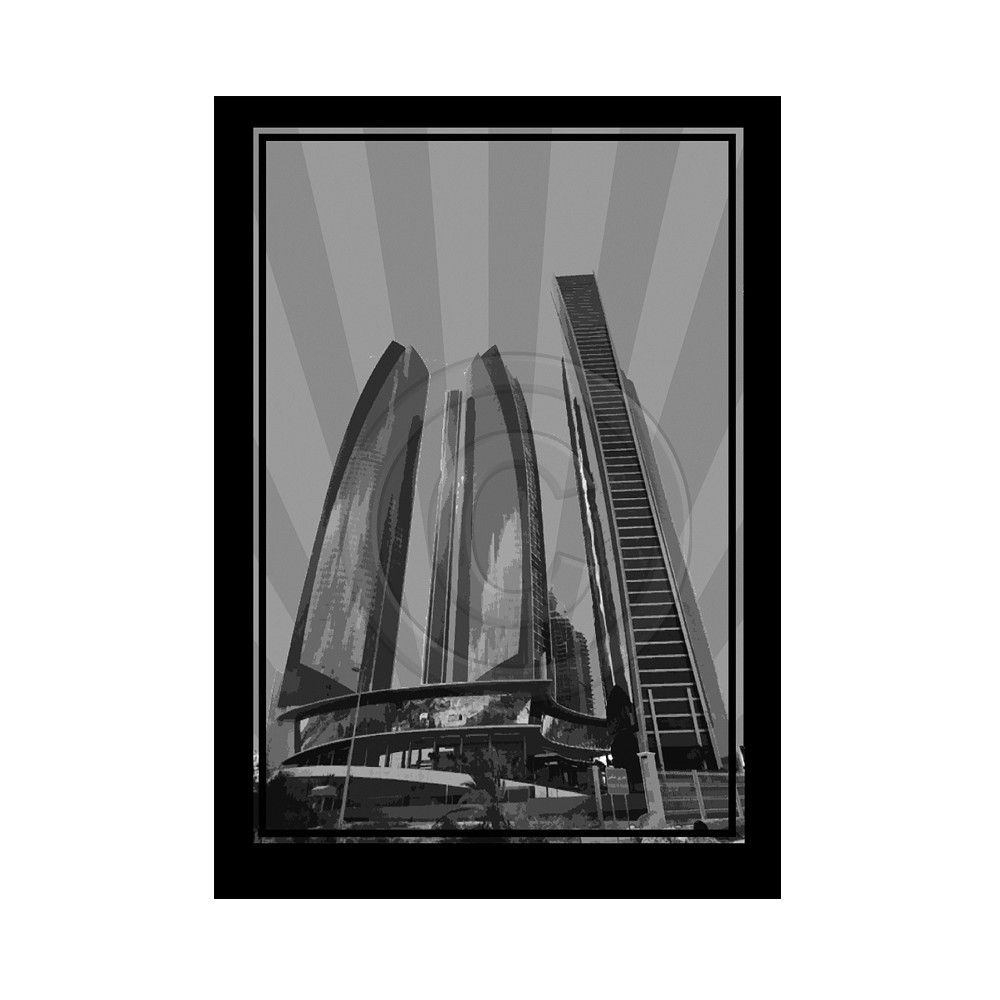Deco Arabia Etihad Towers black & white A1